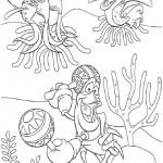Kleine Zeemeermin kleurplaten -