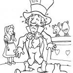 Alice in Wonderland kleurplaten -