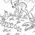 Bambi kleurplaten -