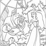 Belle en het Beest kleurplaten -