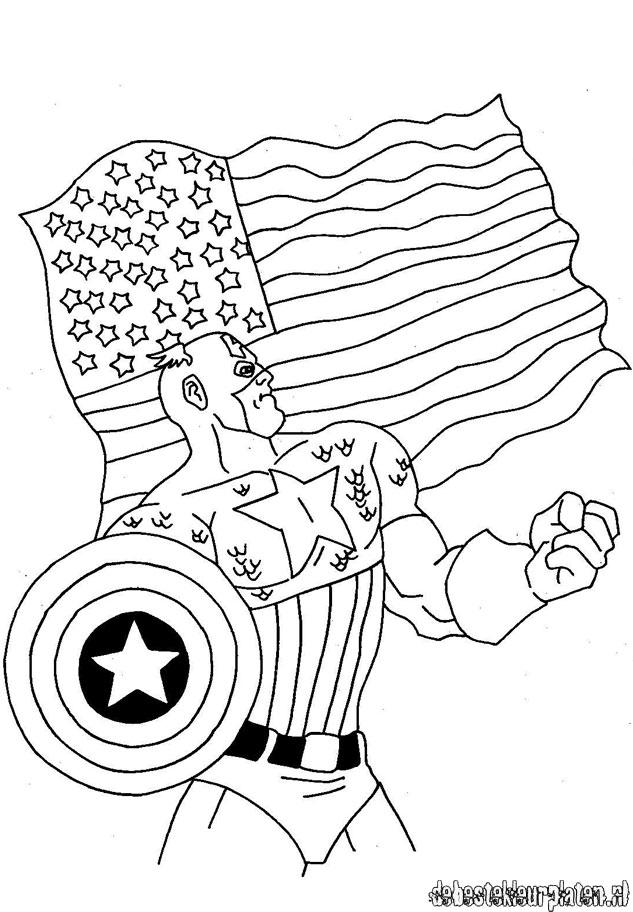 captain america1 de beste kleurplaten