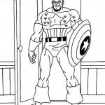 Captain America kleurplaten -