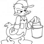 Donald Duck kleurplaten -