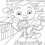 Franny's Feet kleurplaten -