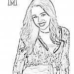 Hannah Montana kleurplaten -