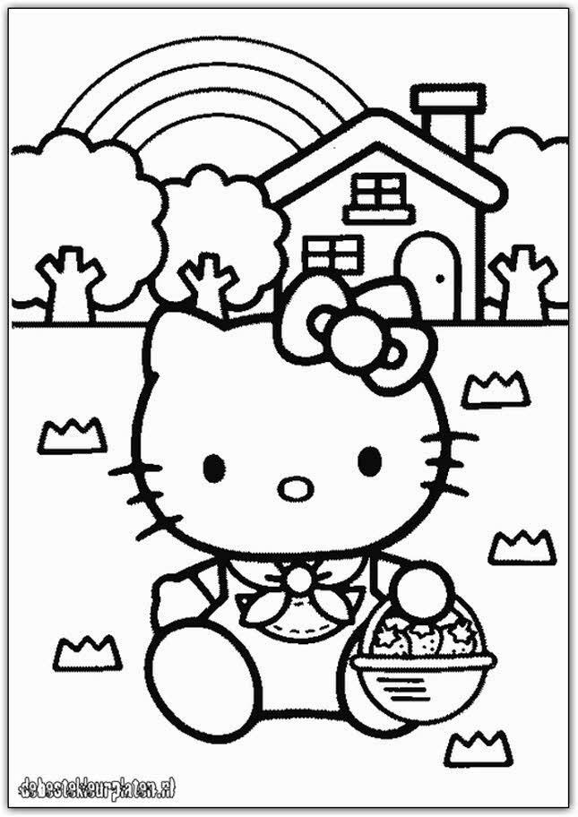 Hello Kitty 3 De Beste Kleurplaten