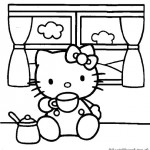 Hello Kitty kleurplaten -