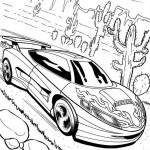 Hot Wheels kleurplaten -