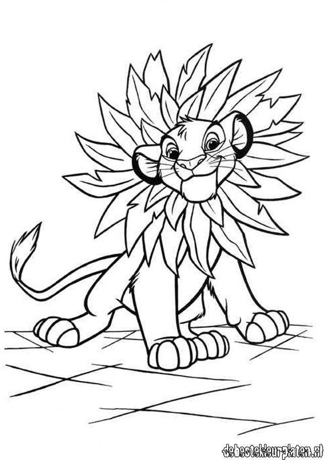 Kleurplaten Van De Leeuwenkoning.Lionking161 De Beste Kleurplaten