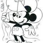 Mickey Mouse kleurplaten -