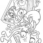 Monsters en Co kleurplaten -