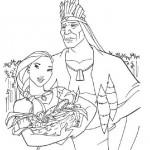 Pocahontas kleurplaten -