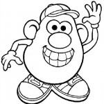 Mr. Aardappelhoofd kleurplaten -
