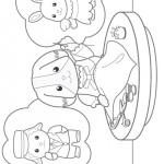 Sylvanian Families kleurplaten -