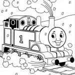 Thomas de Trein kleurplaten -