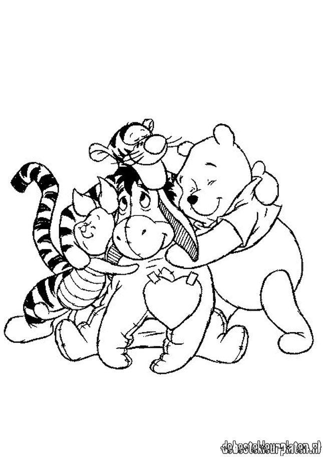 Mickey En Minnie Mouse Kerst Kleurplaten Winnie De Pooh9 De Beste Kleurplaten