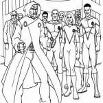 Fantastic Four kleurplaten -