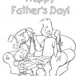 Vaderdag kleurplaten -
