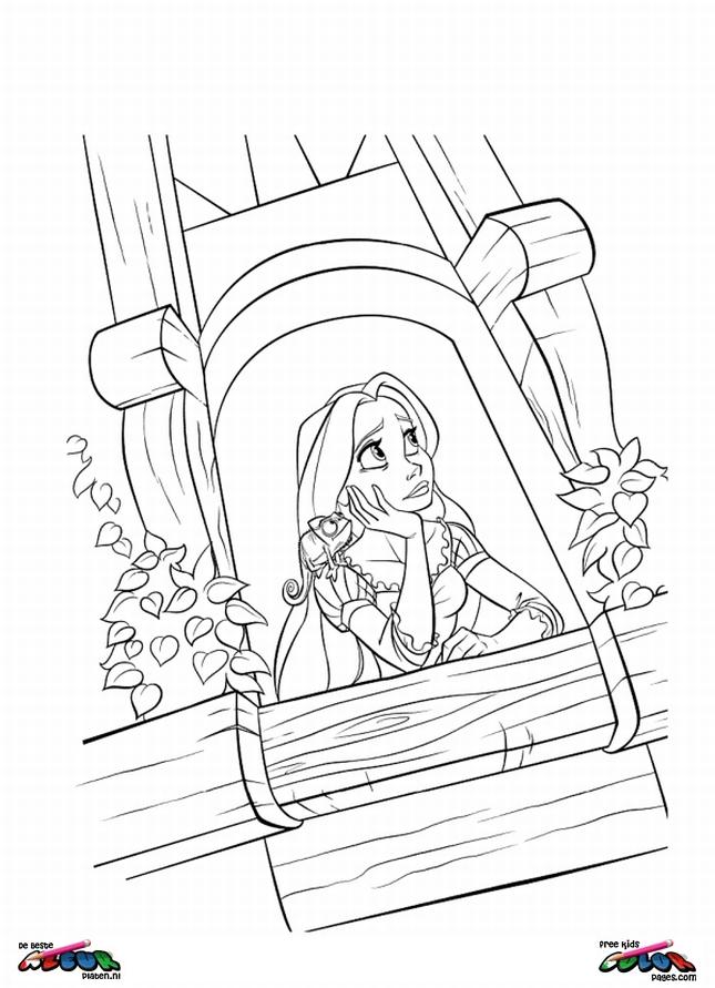 Kleurplaten Prinses Rapunzel.Tangled0020 De Beste Kleurplaten