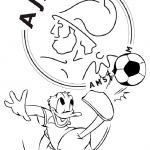 Ajax kleurplaten - Ajax003