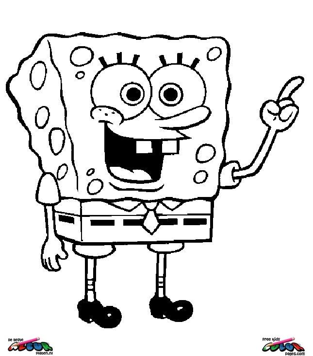 Afbeelding Frozen Kleurplaat Spongebob014 De Beste Kleurplaten