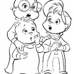 Alvin en de Chipmunks kleurplaten -