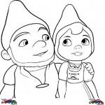 Gnomeo en Juliet kleurplaten -