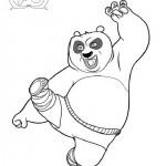 Kung Fu Panda kleurplaten -