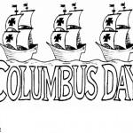 Columbusdag kleurplaten -