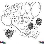 Nieuwjaar kleurplaten -