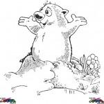 Groundhog Day kleurplaten -