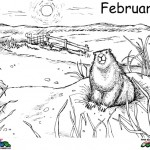 Groundhog Day kleurplaten -