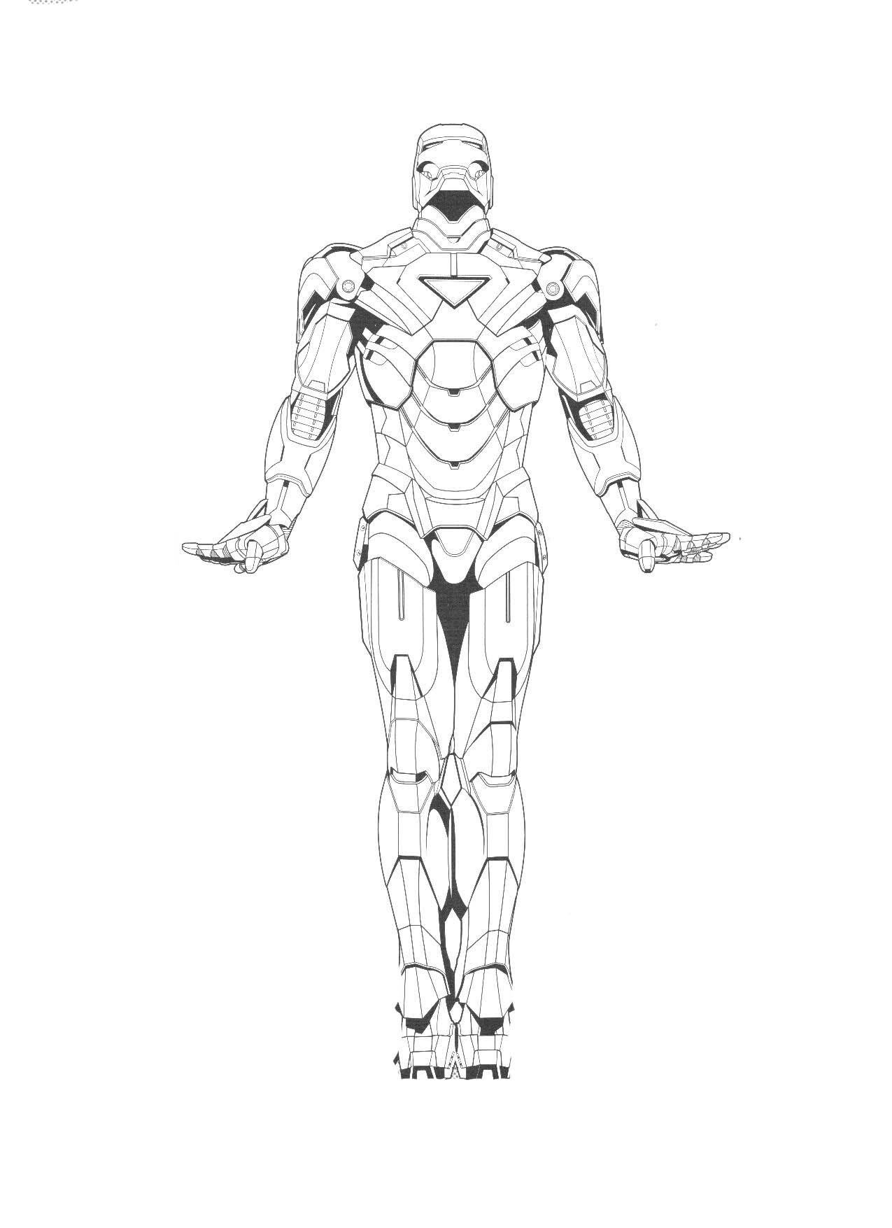 Free Coloring Pages Of Ironman Outline