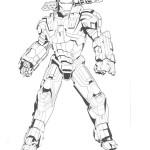 Iron Man kleurplaten -