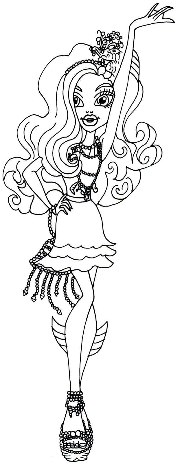 Monster high 13 de beste kleurplaten for Monster high coloring pages 13 wishes