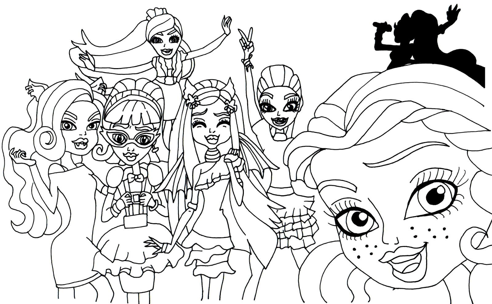 Monster High 19 De Beste Kleurplaten
