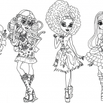 Monster High kleurplaten -