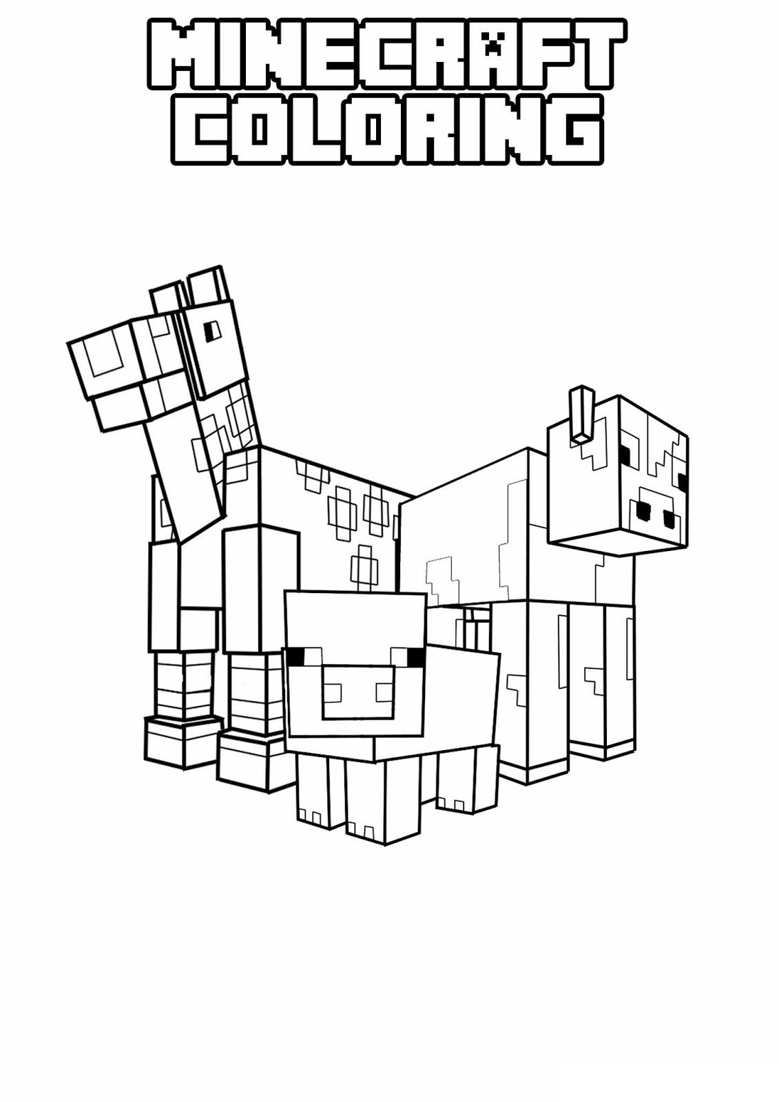 Kleurplaten Minecraft Paard.Kleurplaten Minecraft Paard Nvnpr