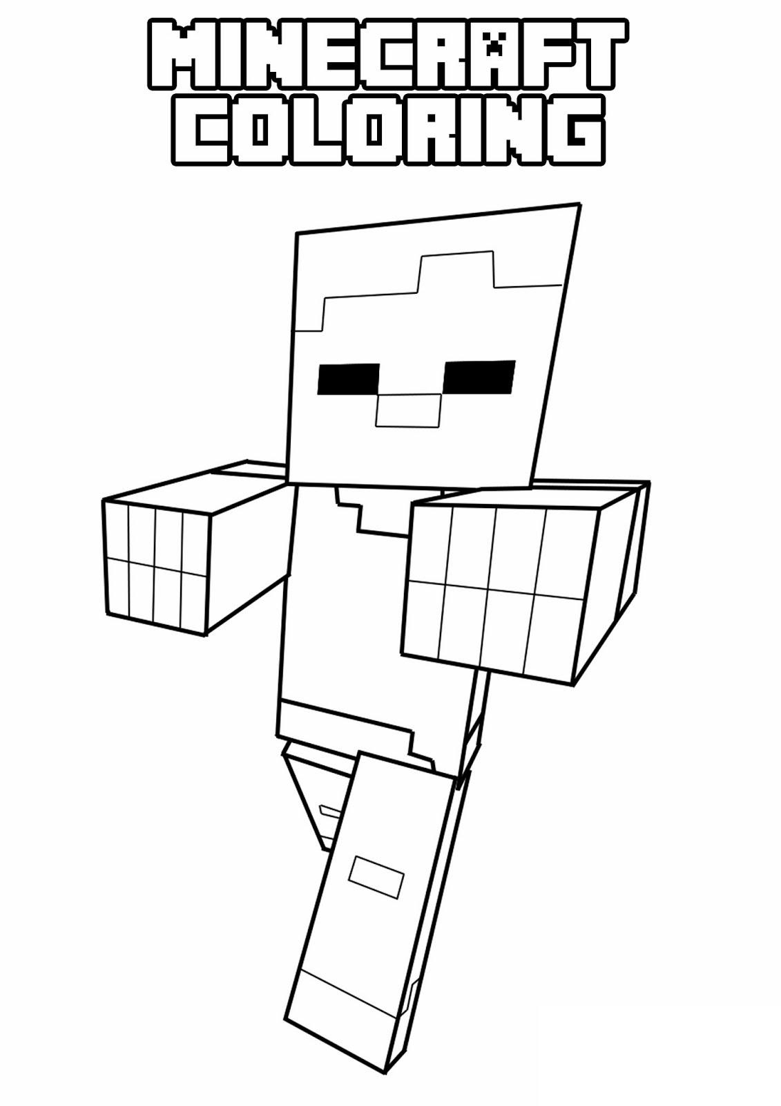 Minecraft 14 De Beste Kleurplaten