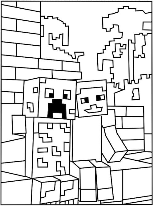 Mickey En Minnie Mouse Kerst Kleurplaten Minecraft 17 De Beste Kleurplaten