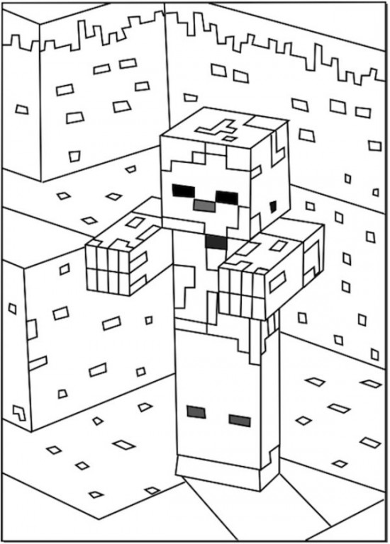 free minecraft zombie coloring pages - photo#11