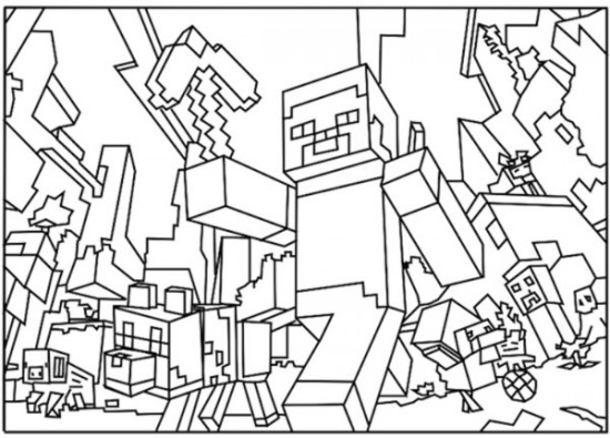 Minnie Mouse Kerst Kleurplaat Minecraft 8 De Beste Kleurplaten