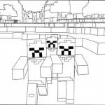 Minecraft kleurplaten -