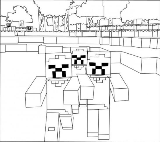 Mickey En Minnie Mouse Kerst Kleurplaten Minecraft 9 De Beste Kleurplaten