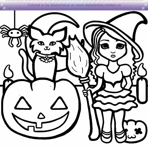Halloween Kleurplaten De Beste Kleurplaten